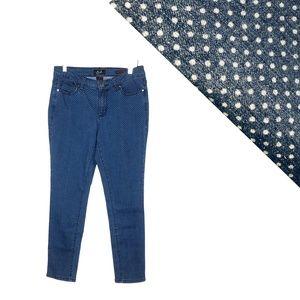 Earl Jeans Polka Dot Skinny Ankle 10 High Rise